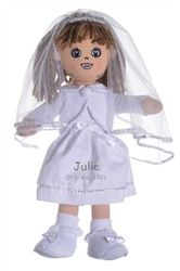 Personalised Bridal Rag Doll! A sweet doll for the Flower Girl to play with and a beautiful keepsake of the day. Available from WowWee.ie: €34.43