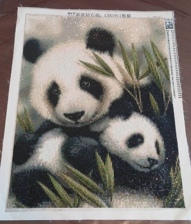 #panda #diamondpainting #happy #handmade #hobby