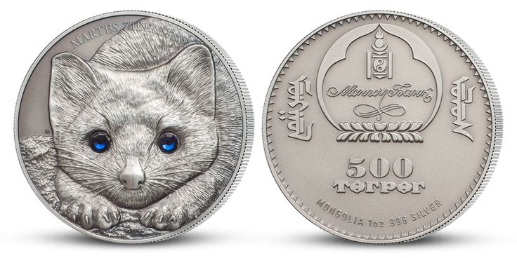 Strieborná minca - Kuna soboľ