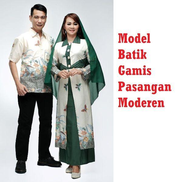 Sarimbit batik model gamis couple muslim moderen harga in cantik