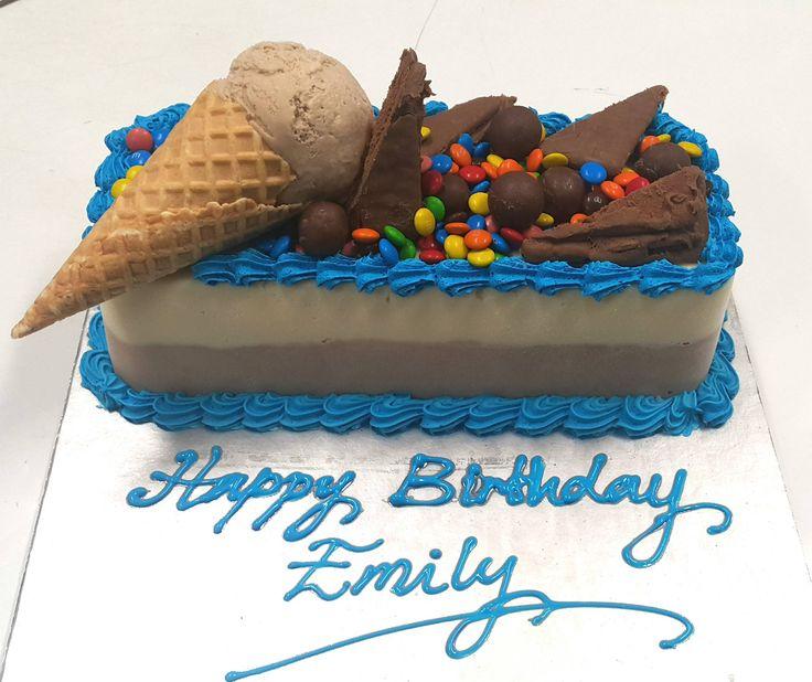 ice cream birthday log cake