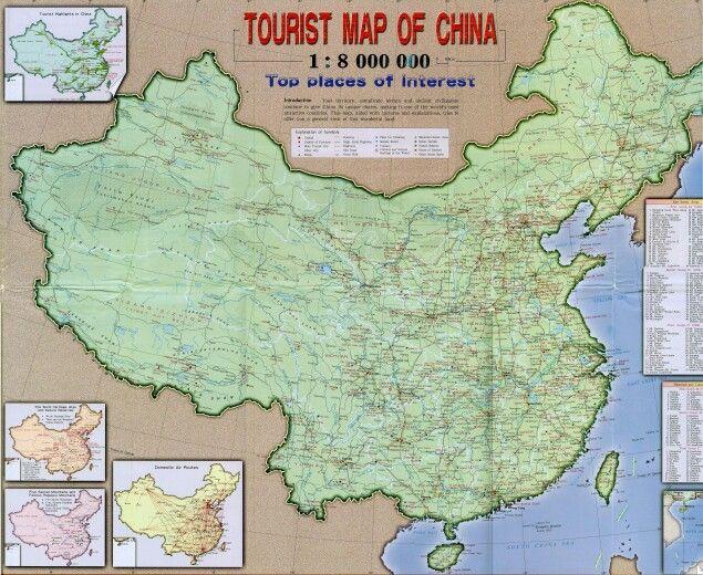 Tourist map of China