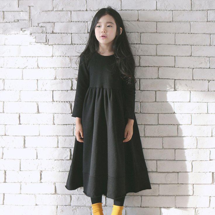 $25.90 (Buy here: https://alitems.com/g/1e8d114494ebda23ff8b16525dc3e8/?i=5&ulp=https%3A%2F%2Fwww.aliexpress.com%2Fitem%2F2-9Y-Girl-Dress-2016-Autumn-Girls-Dress-Long-Sleeve-Cotton-Baby-Girls-black-Dresses-Casual%2F32723928703.html ) 2-9Y Girl Dress 2016 Autumn Girls Dress Long Sleeve Cotton Baby Girls black Dresses Casual Vintage Toddler Kids Girls Clothes for just $25.90