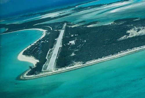 Final approach to Normans Cay - the most special place ever ... TSElliott via Flickr.