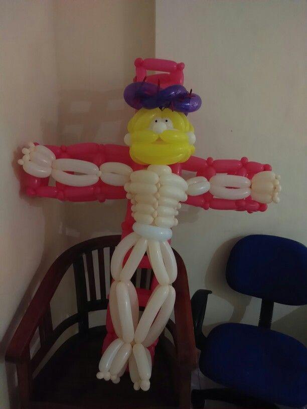 Balloon#jesus#cross