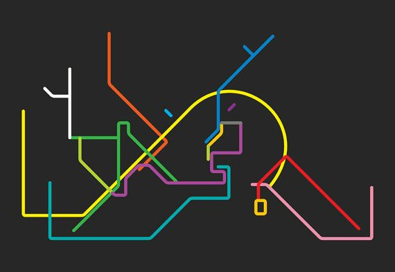 istanbul metro line map 4'X6' by LiveitupS2 on Etsy, $1.50