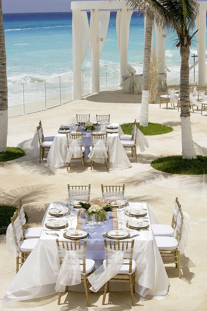 Seaside Wedding At Le Blanc Spa Resort In Cancun Mexico 1 On Tripadvisor Beach Destination Beachwedding Destinationwe