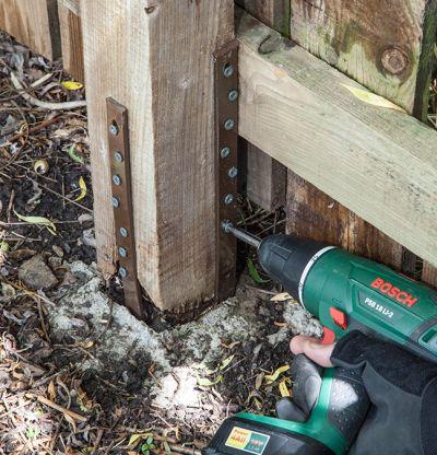 lumber fence post repair