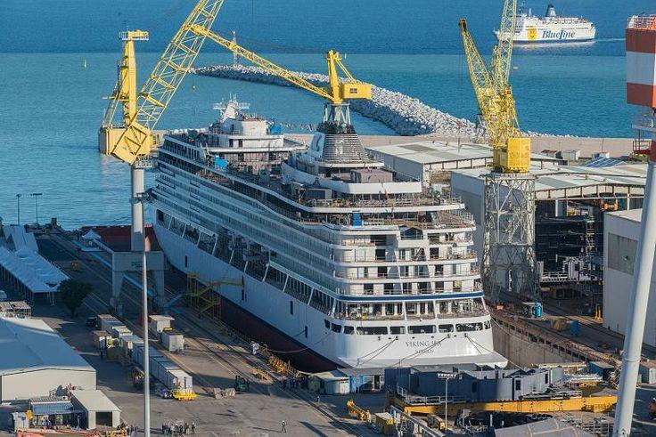In der Werft in Ancona entsteht derzeit die Viking Sea.