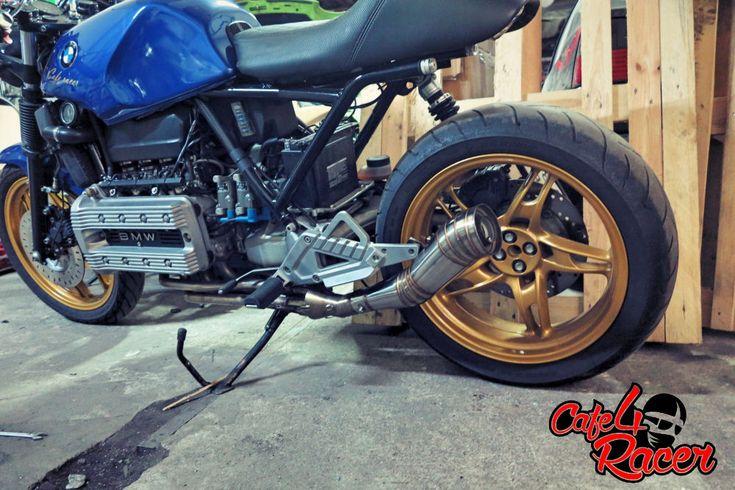 #bmw K100 #custom exhaust #gp style exhasut