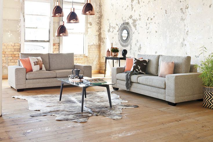For an easy way to update your living areawithout you having to redecorate the whole room.Eye-catching and stylishwith clean elegant lines, the Martini Lounge Suite lends a warm touch to your lounge room. Big and comfortable, the Martini 2 piece suite is perfect for relaxing.