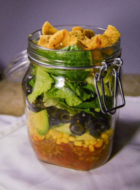 Layered Taco Salad  from Behind the Plates