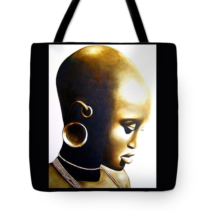"""African Lady Tote Bag 18"""" x 18"""" by Tracey Armstrong"""