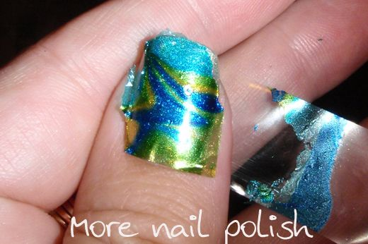 how to do funky nail marbling.