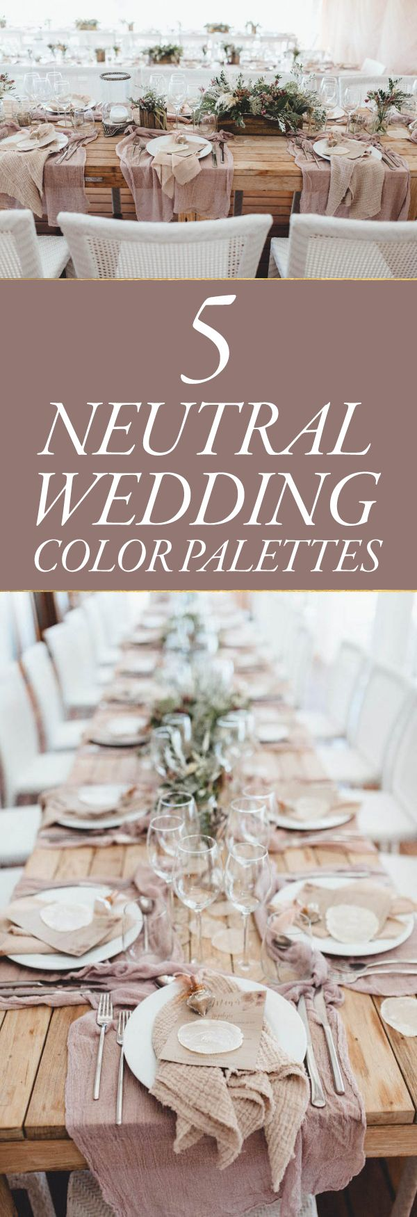 When considering wedding trends for 2017, we keep coming back to striking neutral wedding color palettes inspired by earthy tones and understated elegance.