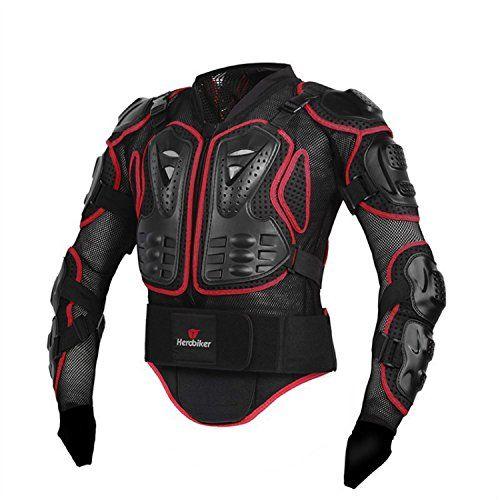 Giacca Moto Protezione Protezioni Giacca Giacca da Moto Protezioni camicia petto protezione caso per protezione da uomo per abbigliamento M - XXXL nero/rosso: Amazon.it: Auto e Moto