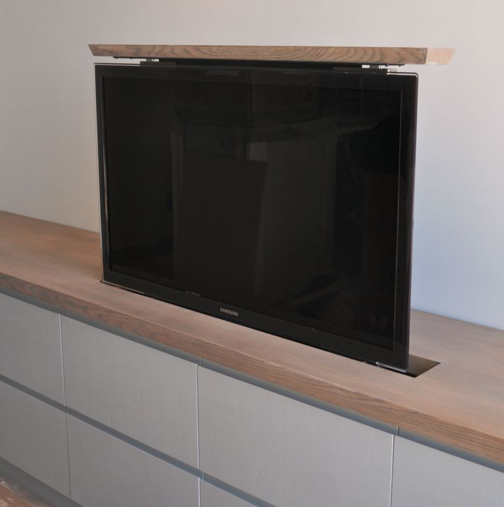 tv lift for your cabinet our fixed lid tv lift where the. Black Bedroom Furniture Sets. Home Design Ideas