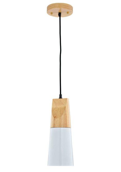 Wood Series Pendant  - Tall (white)