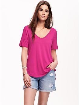 Drapey V-Neck Tee for Women | Old Navy