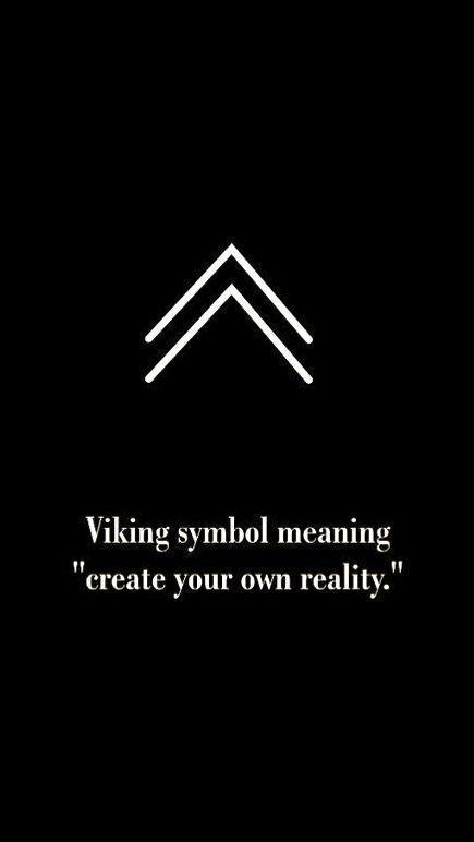 """Wikingersymbol bedeutet """"Erschaffe deine eigene Realität"""" – # bedeut … #Tattoos"""