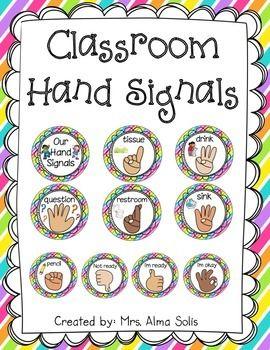 Classroom Hand Signals (Editable)