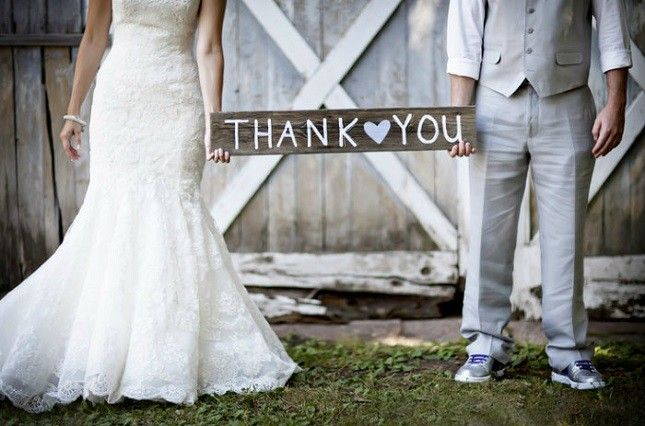 Spruce up some old barn wood for an adorable thank you sign.