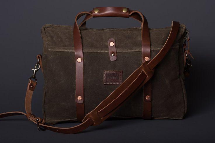 Courier Briefcase | Field Tan | Bradley Mountain