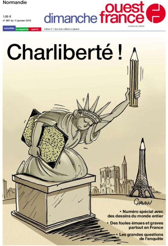 Une Dimanche Ouest France #JeSuisCharlie #CharlieHebdo