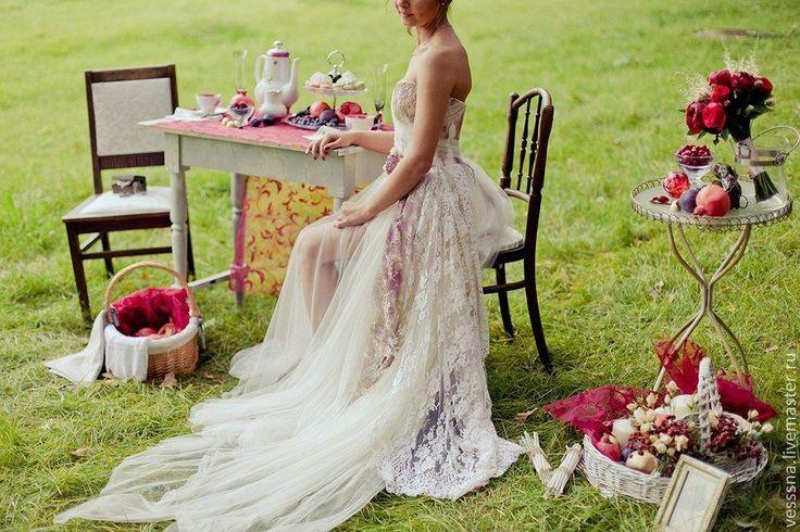"""Купить Свадебное платье на заказ """"Романтический винтаж"""" - свадебное платье, свадебное платье красивое"""