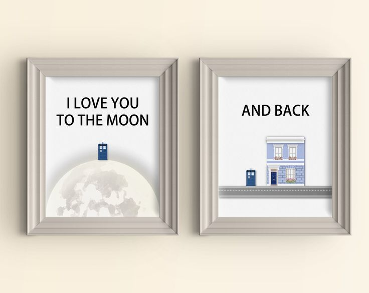I love you to the moon and back Art Print set Doctor Who Art Print Whovian Gift Tardis Dr Who Love Quote Geek Art Print Typography Wall Art by CarnivalePress on Etsy https://www.etsy.com/listing/205800726/i-love-you-to-the-moon-and-back-art