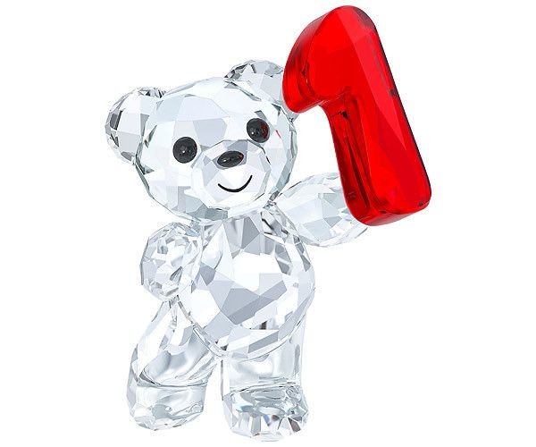 Oh my goodness, these are SO adorable!!!!  Commemorative Crystal Birthday Bears by Swarovski:   Kris Bear -  Number One