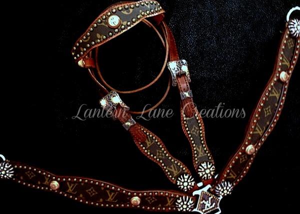 Custom Tack Set Antique Copper Conchos Spots Buckles