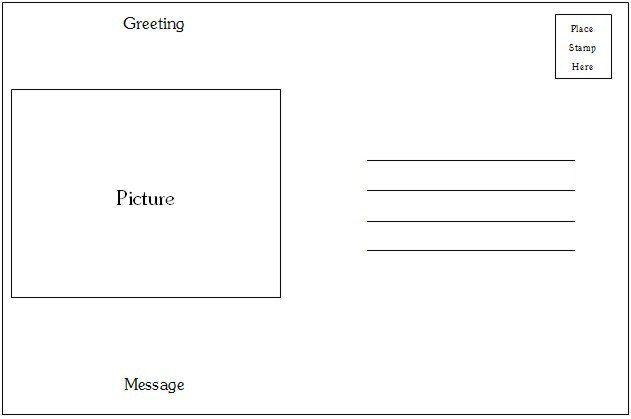 Microsoft Word Postcard Templates Postcard Template Category Page 1 Efoza Postcard Template Postcard Template Free Card Templates Printable
