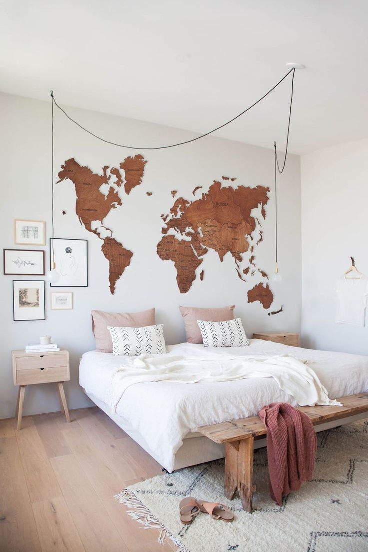 World Map Wall Art Wood Wall Art Rustic Wall Map Wood Map Push Pin