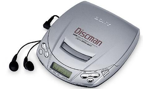 """Discman- I had this one!! (Apparently, they made a """"comeback"""" in 2008...where was i?)"""