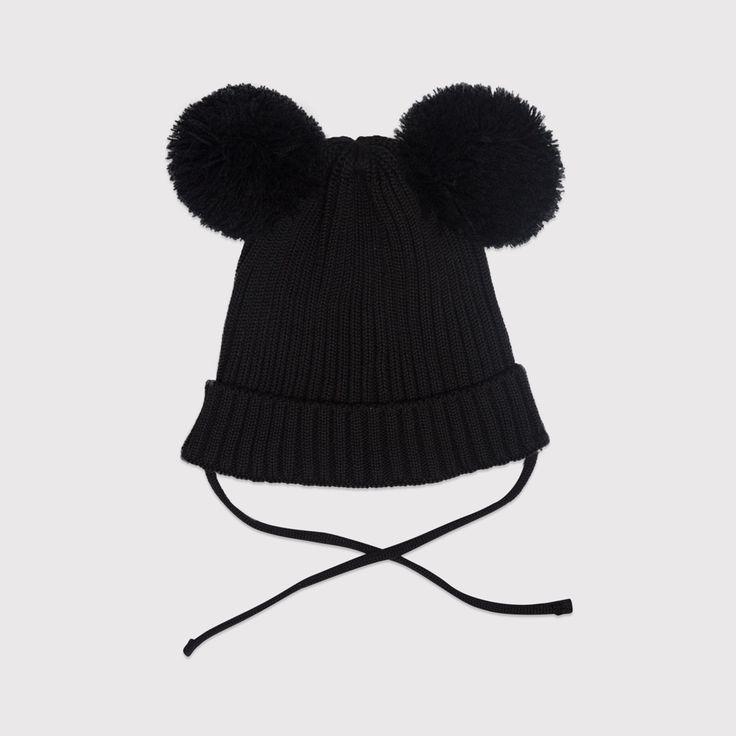Mini Rodini Black Ear Hat   Funky Baby Clothes   Tiny Style   Australia