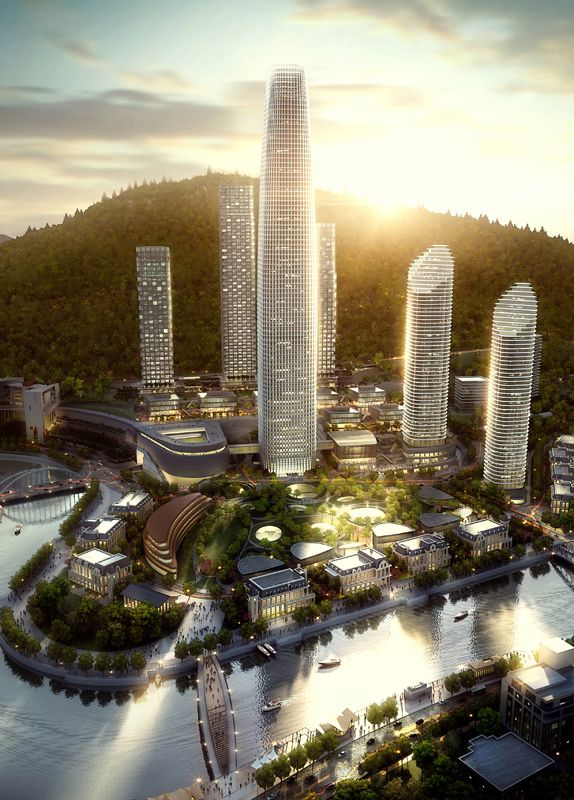 Guiyang-China| Guiyang World Trade Center, 380 m | Pro 2015 | Skidmore, Owings & Merrill LLP