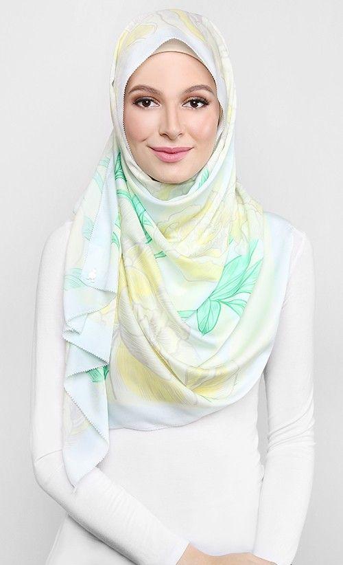 #dUCkscarves Blooming Peonies Scarf in Yellow
