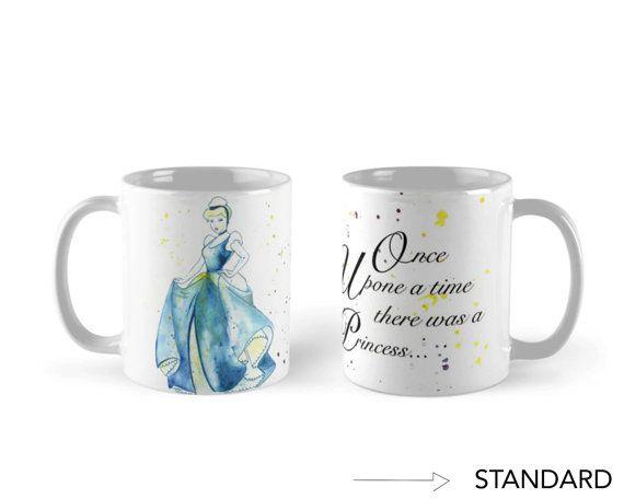 Mug. Princess Cinderella. Tinkerbell. Walt Disney by MIKAsbabies