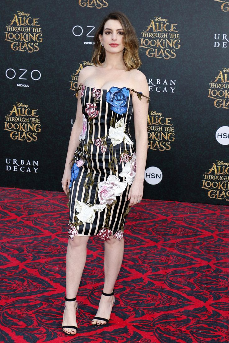 "Anne Hathaway at the premiere of Disney's ""Alice Through the Looking Glass"" at the El Capitan Theatre in Hollywood, CA."
