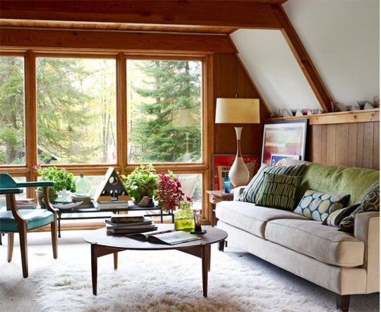 love this room.: Nature Lights, Living Rooms, Dreams, Cabin Living, The View, House Interiors, Nature Style, Small Spaces, A Frames