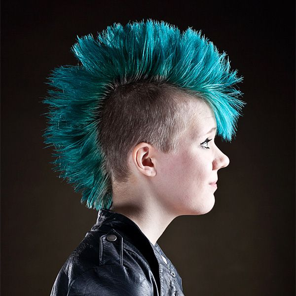 cool turquoise hairstyle