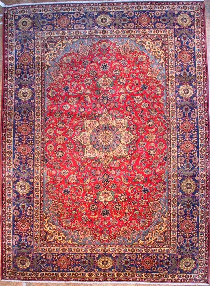 660 Najafabad rugs - This Traditional  rug is approx imately 9 feet 4 inch x 12 feet 8 inch  in size and made of  Wool . This Najafabad  rug...