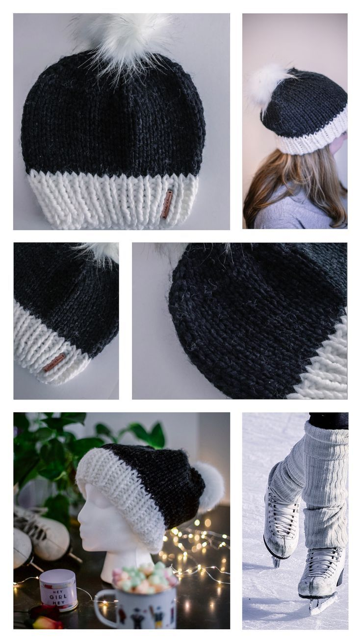 47d3bda86e81d  White Brim Anastasia Beanie is a slouchy beanie knit with a thick and  chunky wool and acrylic blend. White brim