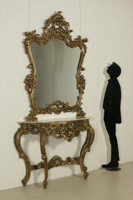 Consolle con specchiera in stile