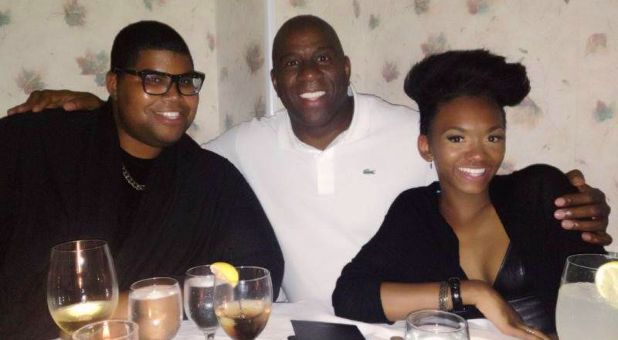 Magic Johnson Talks Christianity, Homosexual Son and Gay Rights Magic Johnson, center, with his son, EJ, and daughter, Elisa. (Facebook) Former NBA star Magic Johnson recently discussed his Christian faith while also saying he supports the gay community and his homosexual son.