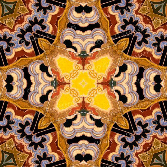 Ceramic transfer Art Nouveau, size 10 x 10cm (3.94 x 3.94 inch), firing temperature 1400-1562 ºF, jugendstil ceramic decal tile, transfers door StainedGlassElements op Etsy