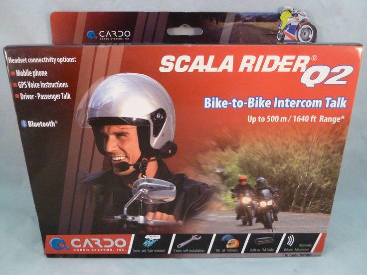 Scala Rider Q2 Cardo Systems Bike to Bike Intercom Bluetooth Headset #CardoSystems