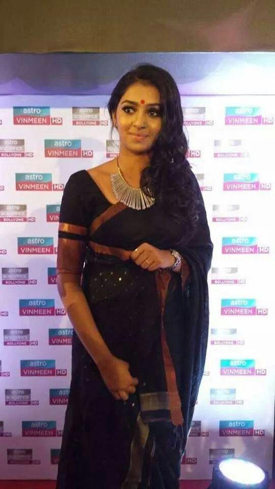 Lakshmi Menon In Black Saree Kollywood Fashion