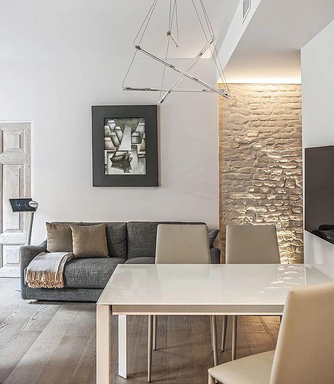 BRANDO concept  | solo 66 mq living open space interior design